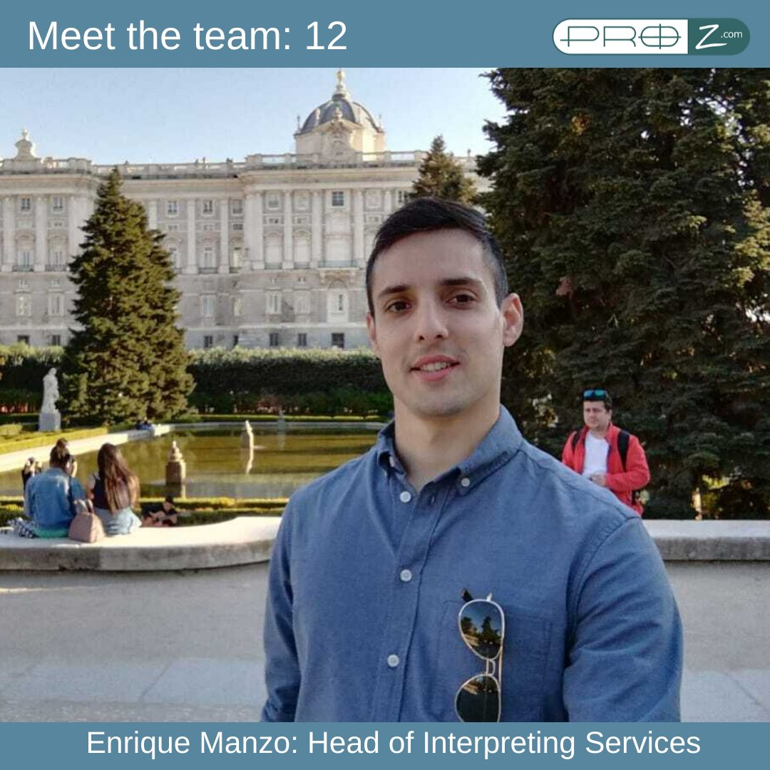 Enrique Manzo: Head of Interpreting Services