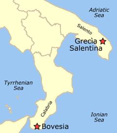 areas where griko is psoken