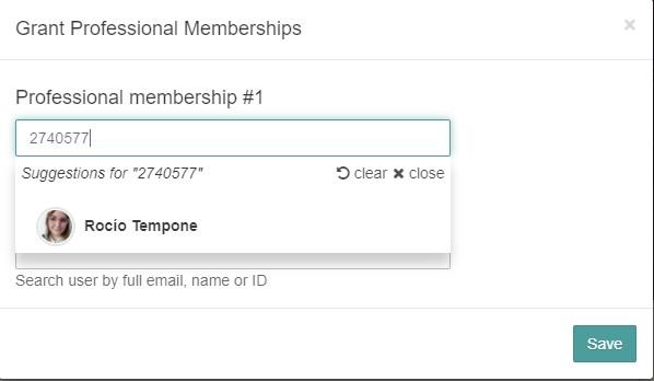 drop down menu to select profile
