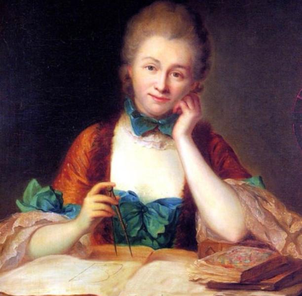 Oil painting of Emilie du Châtelet